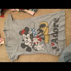 Mickey and minney/ ariel shirt
